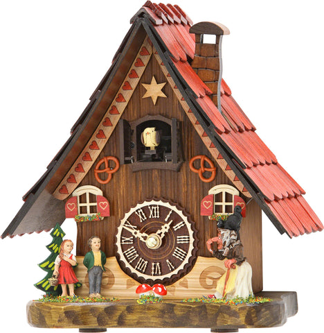Quartz Musical Tabletop Chalet w/ Hansel & Gretel