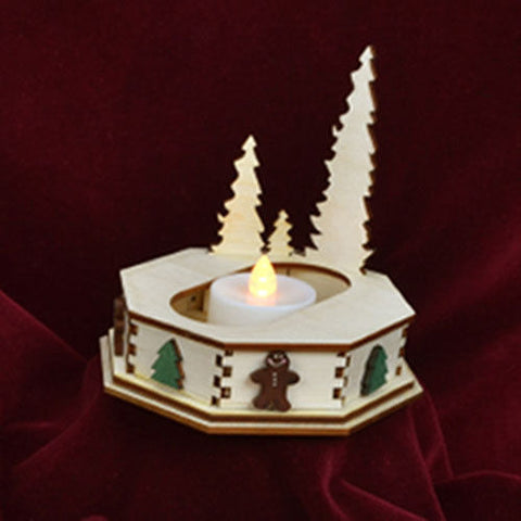 Ginger Cottage Tealight Display w/ Trees