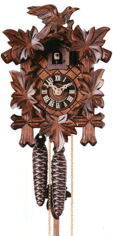 KU1000 - 1 Day Five Leaf One Bird Cuckoo Clock