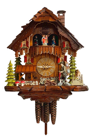 KU3629ex - 1 Day Musical Chalet with Clock Peddler