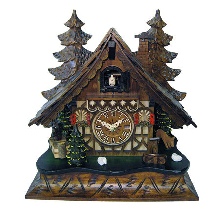 Quartz Chalet Mantel with Bird, Deer & Trees