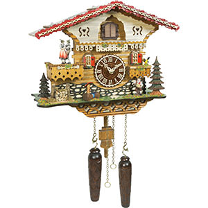 Quartz Musical Cuckoo Clock with Dancers and Man w/ Accordion