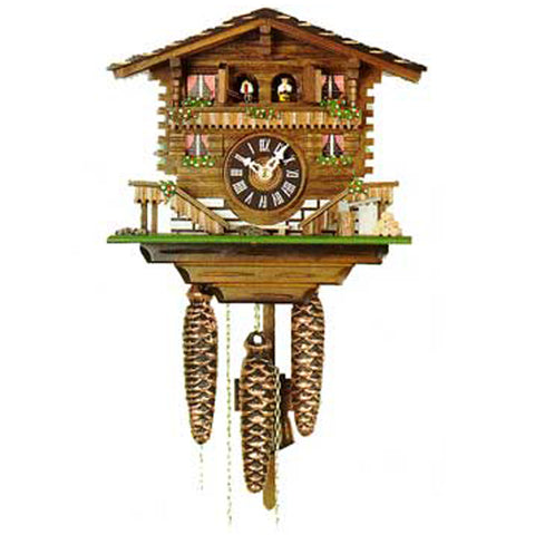 KU614M - 1 Day Musical Two Door Chalet Cuckoo Clock
