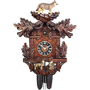 KU82384ko - 8 Day Cuckoo Clock with Wolves