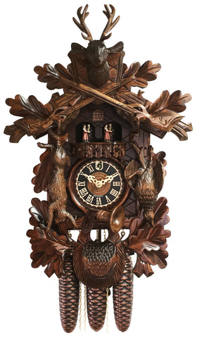 "KU8305M - 8 Day Musical ""Trophy"" Dead Animal Hunter Cuckoo Clock"