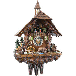 KU8760M - 8 Day Musical Chalet w/ Bears & Deer
