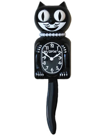 Black Lady Kit-Cat Clock