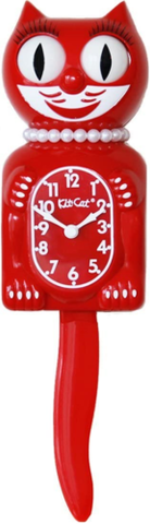 LBC-42 - Scarlet Lady Kit Cat Clock