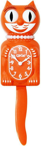 LBC-43 - Pumpkin Delight Lady Kit Cat Clock