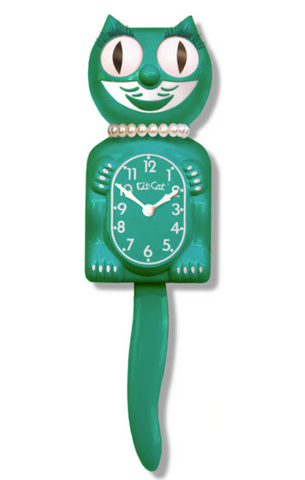 LBC-44 - Green Beauty Lady Kit-Cat Clock