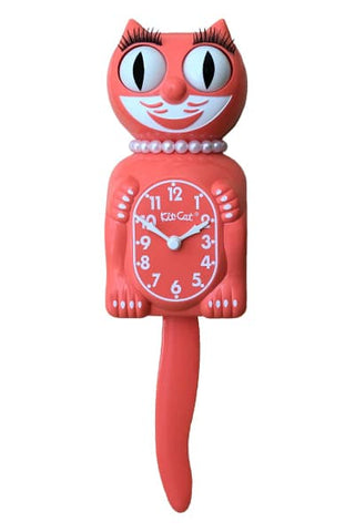 Living Coral Lady Kit-Cat Clock