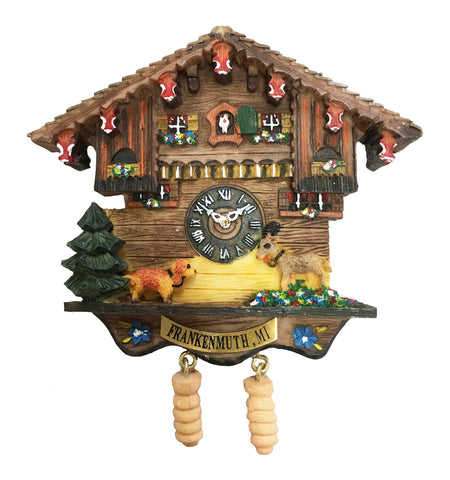Cuckoo Clock House With Goats Magnet