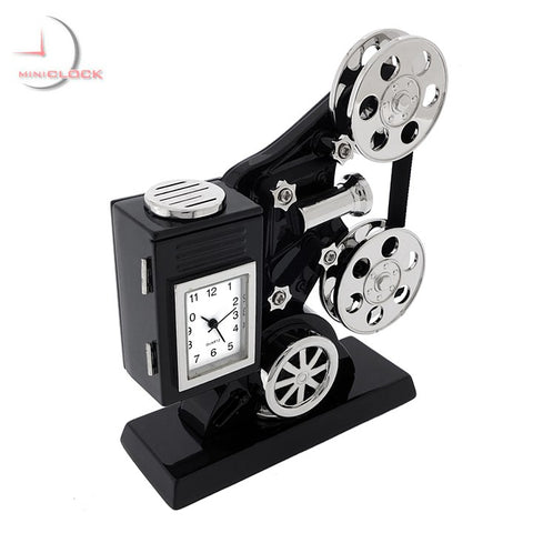 Hollywood Movie Projector Mini Clock