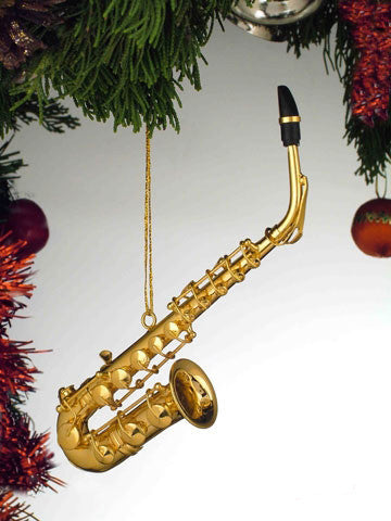 "Ornament-5"" Gold Saxophone"