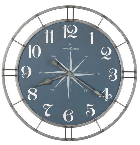625-744 - Compass Dial Gallery Wall Clock