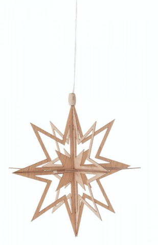 199/328 - Wooden Snow Crystal Ornaments