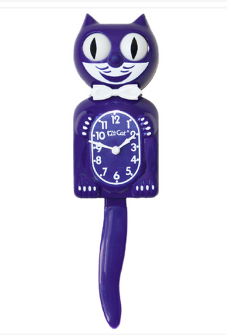 Kit Cat Lady Clock  - Ultra Violet