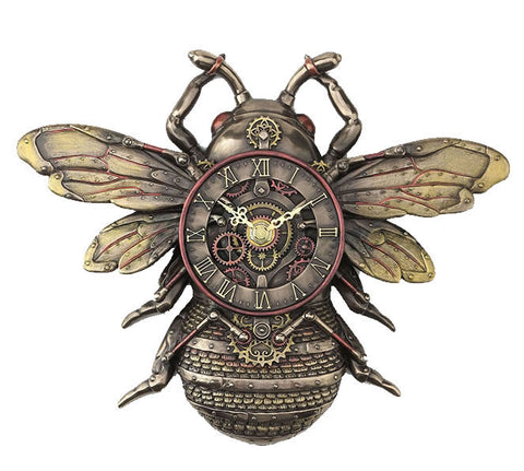 WU77408A4 - Steampunk Bee Wall Clock