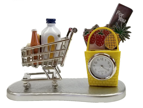 Shopping Cart Miniature Clock