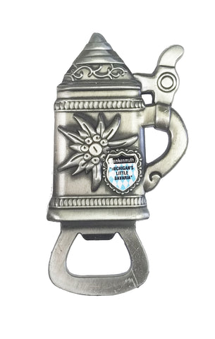Beer Stein Bottle Opener w/ Edelweiss Flower
