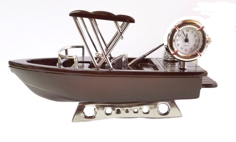 Fishing Boat Miniature Clock