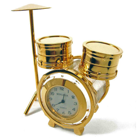 Gold Drum Set Clock
