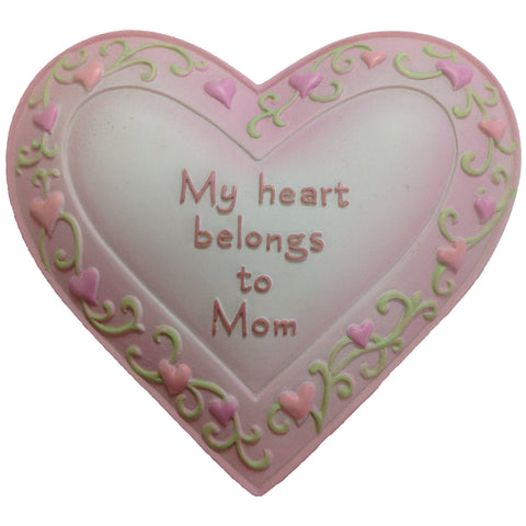 My Heart Belongs To Mom Magnet