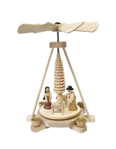 074/164 - Miniature Pyramid with. Nativity Scene (Natural)