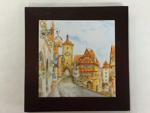 European Scene Framed Tile