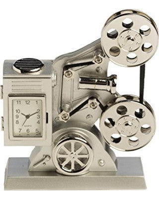 Old Style Movie Projector Mini Clock
