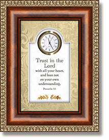 Trust In The Lord Table Top Clock