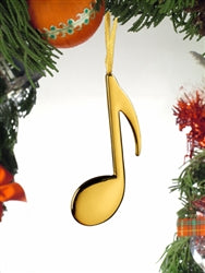 Gold 8th Note Ornament
