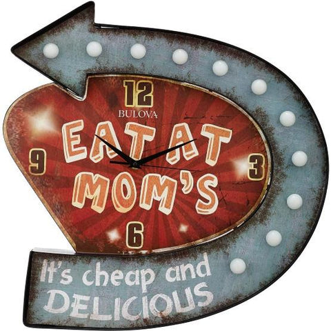 """Mom's Place"" Lighted Wall Clock"