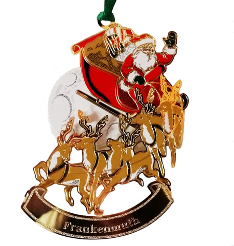 Ornament - Santa on Sleigh w/ Frankenmuth