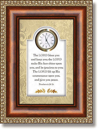 The Lord Bless You Table Top Clock