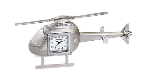 Helicopter Clock - Silver