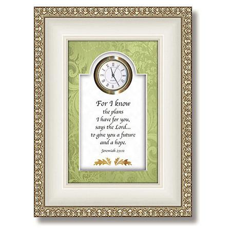 Jeremiah 29:11 Table Top Clock