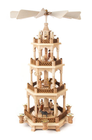 085/352 - 4 Tier Pyramid with Nativity Scene