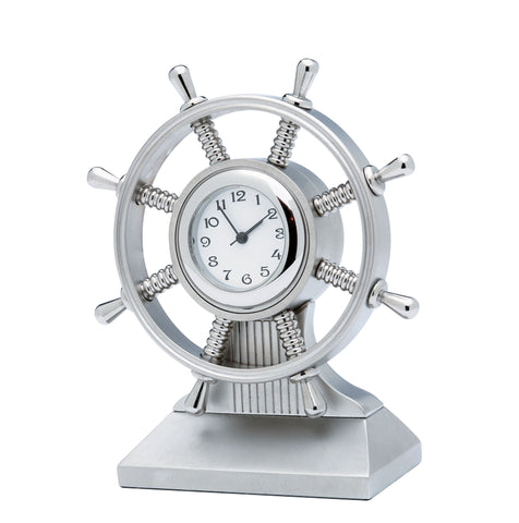 CK464 - Ship's Wheel Miniature Clock