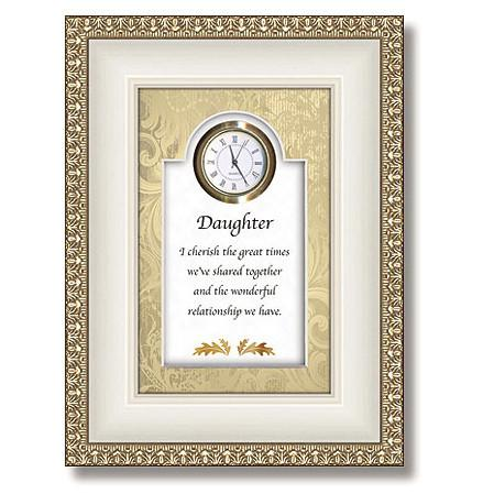 Daughter Table Top Clock