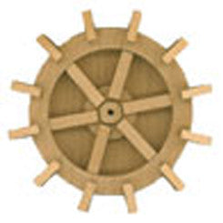 Wooden Water Wheel 2-15/16""