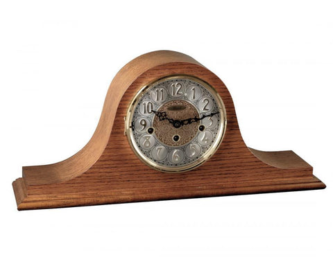 21134-Oak - Laurel Mantel Clock