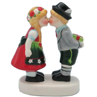 F-211 German Kissing Couple Figurine