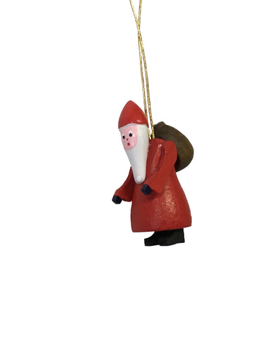 Ornament - Carved Santa Claus 3.5cm