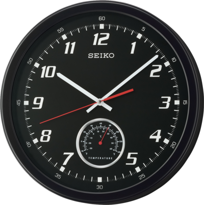 Seiko Black Wall Clock