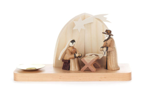 Candle Holder with Nativity Scene
