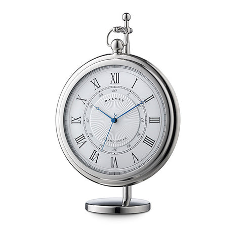 Grand Sedan Clock in White by Dalvey