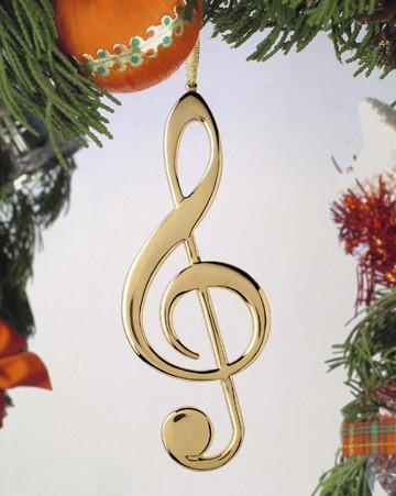 "5"" Gold Treble Clef"