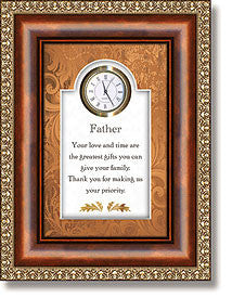 Father Table Top Clock