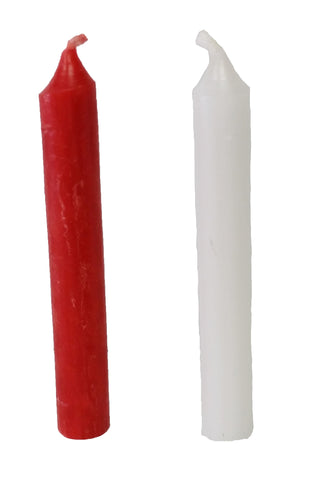 4 Pack Red 10mm Candles